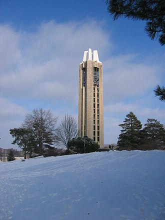 Bell tower - A detached bell tower (campanile) at the University of Kansas