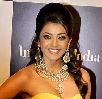 Beehive (hairstyle) - South Indian actress Kajal Aggarwal with a modern beehive in 2011.