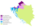 Kajkavo chakavian in Cro and BiH.PNG