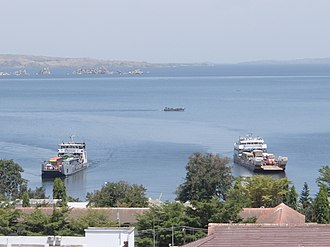 Mwanza - Two ferries from Kamanga arriving at the port of Mwanza.