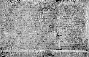 Ashoka's Major Rock Edicts - The Kandahar Greek Edict of Ashoka is a portion of a Major Rock Edict in Greek recovered in Kandahar, Afghanistan, in 1963.