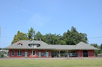 National Register of Historic Places listings in Fulton County, Arkansas - Image: Kansas City, Fort Scott and Memphis Railroad Depot