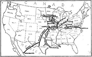Kansas City, Mexico and Orient Railway - Image: Kansas City, Mexico and Orient Railway with Hawley lines