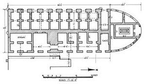 Kartalab Khan Mosque - Plan view of Begum Bazar Mosque