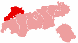 Bezirk Reutte location map