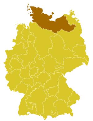 Roman Catholic Archdiocese of Hamburg - Image: Karte Erzbistum Hamburg