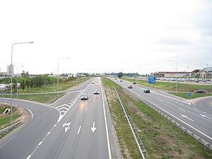 Kaunas Airport - Motorway A1 near Kaunas