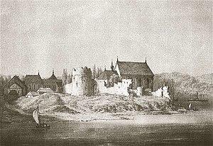 Kaunas Castle - Kaunas Castle in 19th century