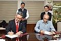 Kazutada Kobayashi witnessing the signing ceremony of an MoU between Film and Television Institute of India, Pune and Canon India Private Limited, in New Delhi.jpg