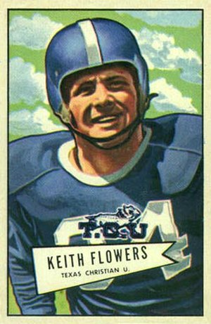 Keith Flowers - Flowers on a 1952 Bowman football card