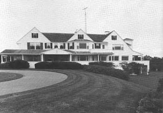 Kennedy Compound - Main house of the Kennedy Compound (1972).