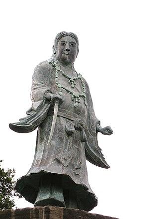 Yamato Takeru - The statue of Yamato Takeru at Kenroku-en