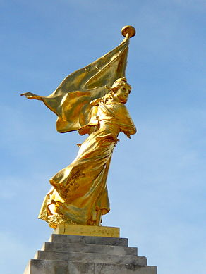 Key Monument with Flag.JPG