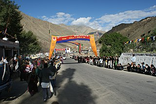 Khalatse Village in Ladakh, India