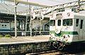 Kiha28 Rapid Kita-Nagato at Asa Station 19990502.jpg