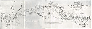 Kilmarnock and Troon Railway - Design for the route, 1807