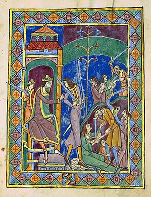 St. Albans Psalter - Massacre of the Innocents