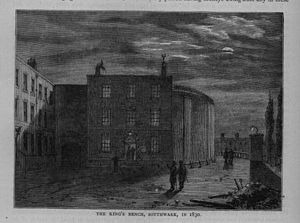 King's Bench Prison - The King's Bench Prison in 1830.