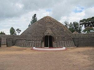 Tutsi - The traditional Tutsi king's palace in Nyanza.