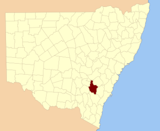 King County, New South Wales - Location in New South Wales