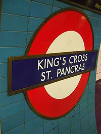 Kings Cross St Pancras Northern roundel.JPG