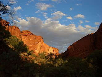 Kings Canyon (Northern Territory) - View from the Kings Canyon Gorge at sunset.