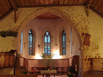 Blumenstein - Interior of the Swiss Reformed church