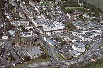 Kirkintilloch - Aerial view of Kirkintilloch