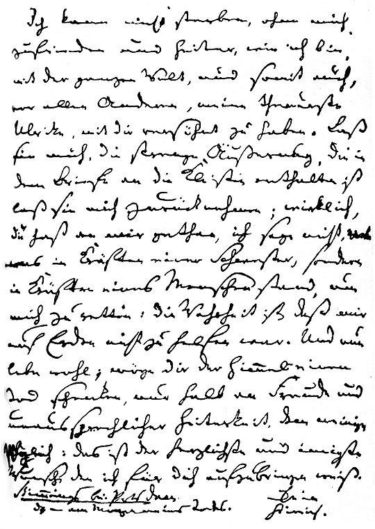 Kleist suicide letter