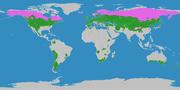 Karte der gemäßigten Klimazonen