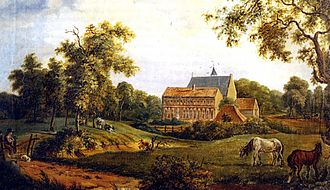 Ter Apel Monastery - The monastery painted by Arnold Hendrik Koning in 1834