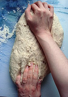 Kneading process in baking