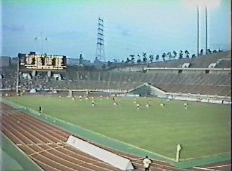 Japan Football League (1992–98) - Vissel Kobe vs. NTT Kanto F.C. at Kobe Universiade Memorial Stadium in 1995