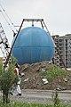 Kolkata Gate Globe Under Construction - Rabindra Tirtha Crossing - Rajarhat - Kolkata 2017-06-21 2829.JPG