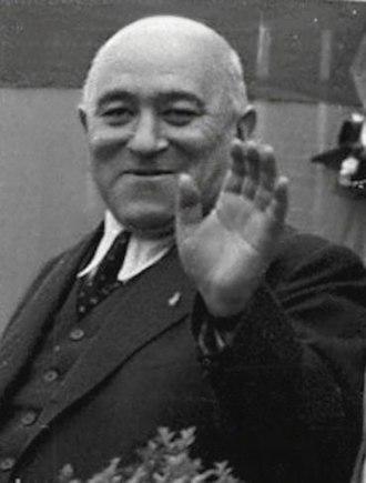 Mátyás Rákosi - Image: Kommunista politikusok a tribünön fortepan 79084 (profile 4)