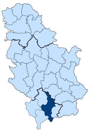 Autonomous Province of Kosovo and Metohija - Image: Kosovski okrug