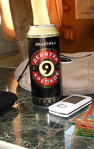Baltika Breweries - Baltika Krepkoe – Baltika's strongest beer.
