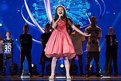 Krisia Todorova during opening act of JESC 2015.jpg