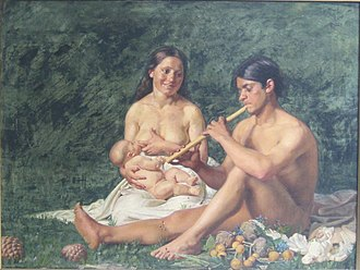 Jubal (Bible) - Jubal and family painted by Kristian Zahrtmann