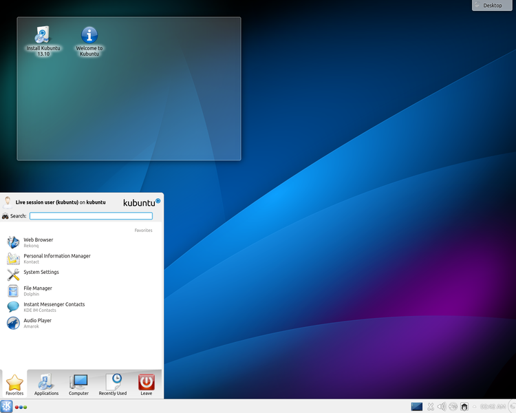 Kubuntu screenshot from Wikipedia