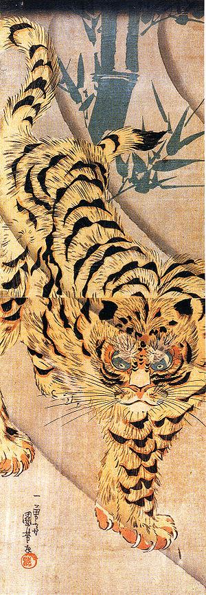 Utagawa Kuniyoshi - Tiger, woodblock print