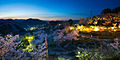 Kurashki city at night during Hanami (Sakura blooming season). Okayama Prefecture. Japan.jpg