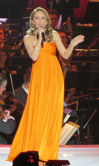 On a Night Like This - Minogue performs the song during the 2012 Nobel Peace Prize Concert.