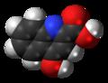 Kynurenic acid molecule spacefill.png
