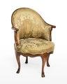 Länstol av bergère-typ, 1700-talets mitt - Hallwylska museet - 110046.tif