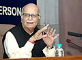 L.K. Advani addressing at the Orientation Programme for Media Persons covering Parliamentary proceedingsactivities, organized by the Bureau of Parliamentary Studies & Training (BPST), in New Delhi on March 05, 2009.jpg