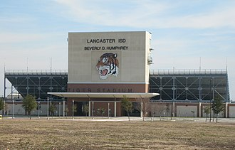 Lancaster High School (Lancaster, Texas) - Image: LISD Tiger Stadium