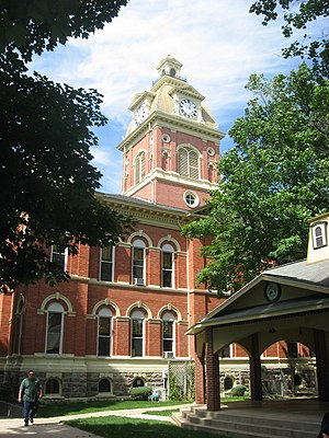 National Register of Historic Places listings in LaGrange County, Indiana - Image: La Grange County Courthouse
