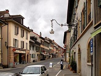 La Sarraz - Main street of La Sarraz