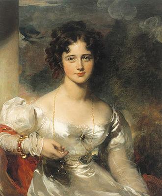Anna Maria Truter - Rosamond, Lady Barrow, married to George Barrow, 1826 portrait by Thomas Lawrence